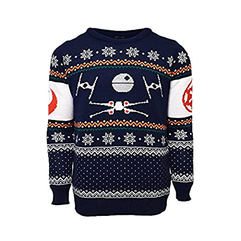 X-Wing Vs. Tie Fighter Official Star Wars Christmas Jumper / Sweater (Large) (M Und S Christmas Jumper)