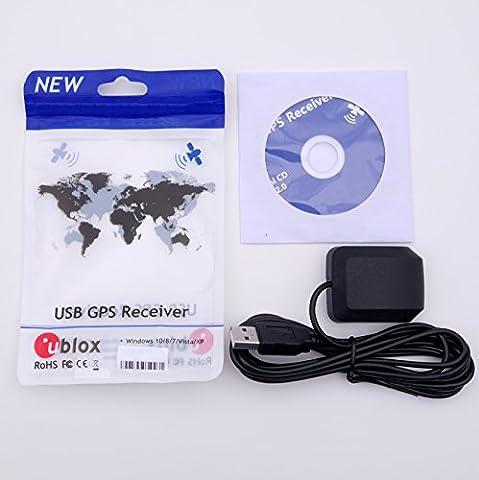 Qgp USB 2.0étanche antenne Active GPS GLONASS, basse de réflexion