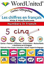 Numbers in French - Write & Wipe Flashcards with Multilingual Support