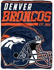 Northwest NFL DENVER BRONCOS 40 Yard Dash Micro Raschel Throw Blanket