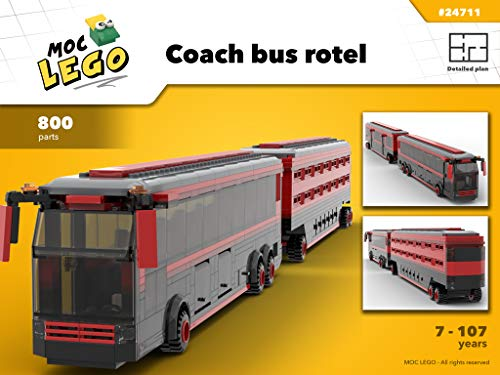 Coach bus rotel (Used in Africa) (Instruction Only): MOC LEGO di Bryan Paquette
