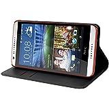 Muvit MUWAL0014 Etui folio portefeuille pour HTC Desire 820 Noir