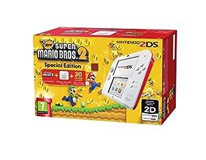 nintendo ds: Nintendo 2DS - Consola, Color Rojo + New Super Mario Bros 2 (Preinstalado)