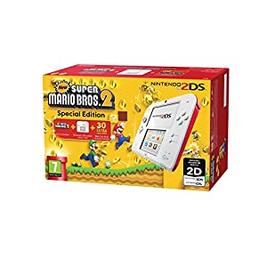 2DS HW WHITE+RED NEWSUPERMARIOBROS2