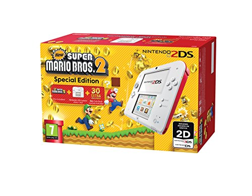 CONSOLE NINTENDO 2DS WHITE/RED + NEW SUPER MARIO 2