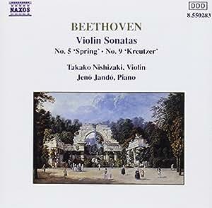 Violin Sonatas 5 and 9 (Nishizaki, Jando)