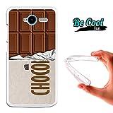 Becool® Fun - Funda Gel Flexible para ZTE Blade L3 .Carcasa TPU fabricada con la mejor Silicona, protege y se adapta a la perfección a tu Smartphone y con nuestro diseño exclusivo Tableta de chocolate