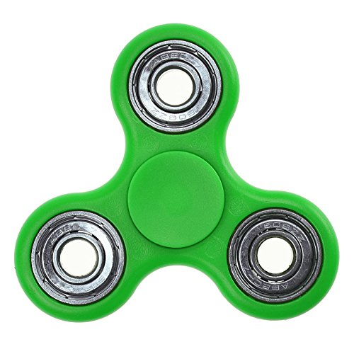 Finger Fidget Whirlerz Steel Tri Hand Spinner Pocket Stress Toy Novelty Game Fast Bearings Ultra Smooth Spin Top - Green