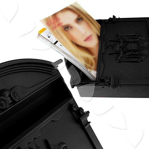 Generic Letter mail post box in alluminio colore casuale chiudibile con montaggio a parete Garden Mailbox < 1& 2863*