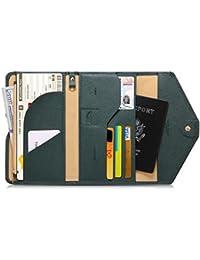 Zoppen multiusos bloqueo RFID cartera para pasaporte (ver. 4) organizador soporte