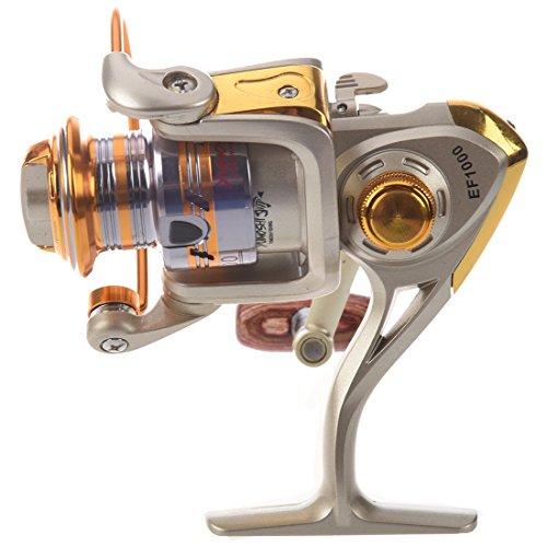 REFURBISHHOUSE Spool Aluminium Spinning Fliegenrolle Baitcasting Angelrollen Salzwasser Okuma Baitrunner Metall Frontbremse EF1000 (Angelrolle Salzwasser Okuma)
