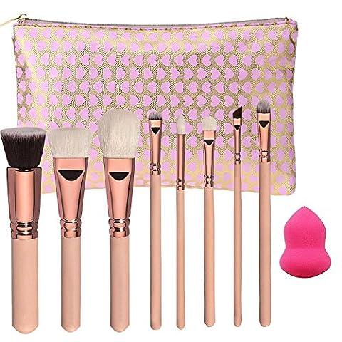 tinabless 8Pinceaux de maquillage professionnel cosmétiques Outils