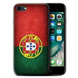 Stuff4 Coque Gel TPU de Coque pour Apple iPhone 7 / Portugal/Portugais Design/Drapeau Collection