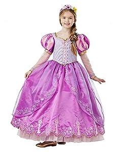 Disney - Disfraz de Rapunzel para niña, Edición Deluxe Limitada, 7-8 años (Rubie