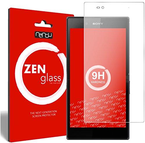 nandu I ZenGlass Flexible Glas-Folie für Sony Xperia Z Ultra Panzerfolie I Bildschirm-Schutzfolie 9H