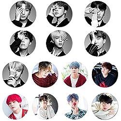 Christ For Givek Kpop BTS Bangtan Boys Foto botones insignias/hojalata Pin 2.3 pulgadas(14PCS)
