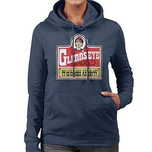 Walking Dead Glenns Eye Women's Hooded Sweatshirt Navy Blue