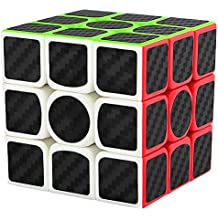 Speed Cube 3x3x3, LSMY Puzzle Mágico Cubo Carbon Fiber Sticker Toy
