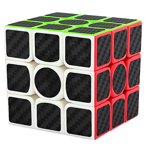 LSMY Speed Cube 3x3x3, Puzzle Magic Cubo Carbon Fiber Sticker Toy