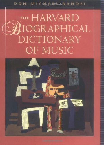 The Harvard Biographical Dictionary of Music (Harvard University Press Reference Library) (1996-11-01)