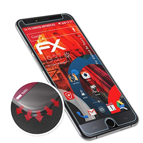atFolix Schutzfolie passend für Ulefone Be Touch 3 Folie, entspiegelnde & Flexible FX Bildschirmschutzfolie (3X)