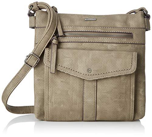 Tamaris Damen Adriana Crossbody Bag M Umhängetasche, Grün (Khaki), 4,5x24x25 cm