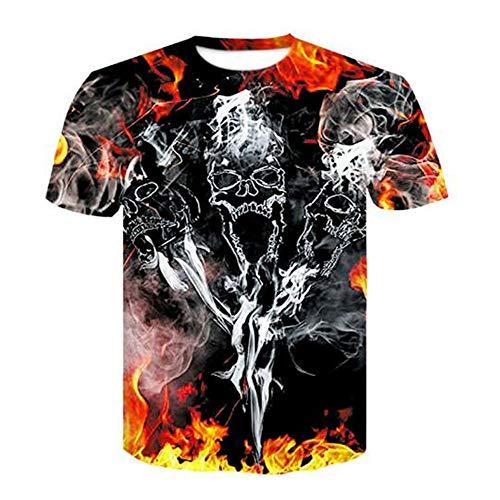 Männer Frühling Sommer Männer T-Shirts 3D Gedruckt Tier t-Shirt Kurzarm Lustige Design Casual Tops Tees Männlich,3D Digitaldruck - A8 Farbe L (Baby Familie Adams)