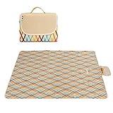 HM&DX Größe Outdoor Wasserdicht Picknickdecken,Oxford Feuchtigkeitsfest Picknickdecke campingdecke Tragbare Handtaschen Picknick-matte Pad für beach-rasen-reisen -beige 200x200cm(79x79inch)