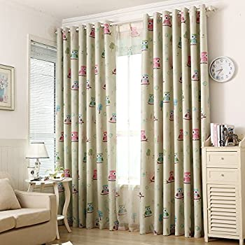 Owl and Friends Curtains 66\