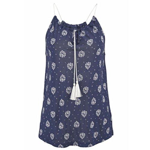 Wawer Women's Tops Vest, Women Summer Print Sleeveless Vest Shirt Tank Tops Blouse T-shirt Great For Sports/Dance/Club/Party/Daily/Beach