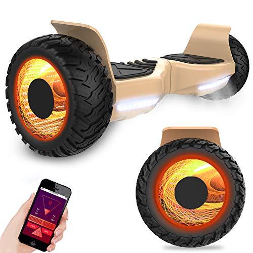 GeekMe Off-Road Elektro Scooter Elektroroller 8.5 \'\' SUV Hummer Gelände intelligenter Self Balance Scooter Fantastische LED-glühende Räder mit Bluetooth-Funktion