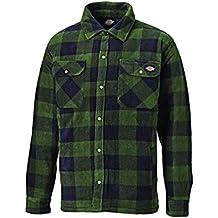 Dickies - Camisa térmica acolchada para trabajo, XXL, verde