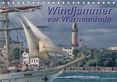 Windjammer vor Warnemünde (Tischkalender 2021 DIN A5 quer): Windjammer und Segelschiffe zur 'Hanse Sail' vor Warnemünde (Monatskalender, 14 Seiten ) (CALVENDO Orte)