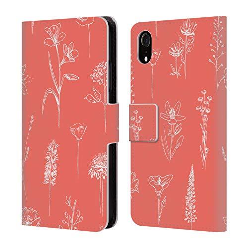 Head Case Designs Offizielle Anis Illustration Koralle Blumige Muster 2 Brieftasche Handyhülle aus Leder für iPhone XR -