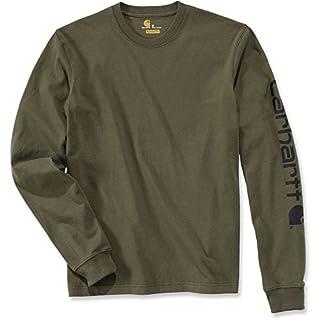 Carhartt .EK231.ARG.S004 Sleeve Logo T-Shirt, Small, Army Green