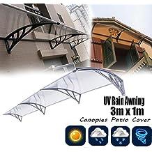 Ridgeyard 1m x 3m Overhead Auvent de porte store marquise solaire abri banne entrée ombre protection