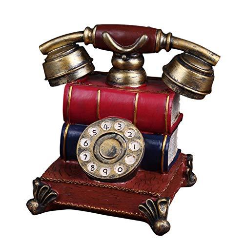 Toolmore Retro Europa Telefon Spar Schwein Figuren Klassische Einfache Harz Vintage Telefon Dekor Wohn Kultur Handwerk Hochzeit Europa-telefon