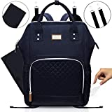 Diaper Bag Baby Changing Backpack | MIMINOBABY | Black Maternity Bag with Insulated