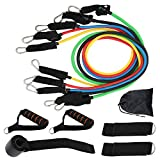 Interlink-UK 11PCS Ensemble de Bandes de Résistance Elastiques Musculation,Set de Bande de Résistance,Fitness Elastiques Kit pour Musculation avec Poignées pour Yoga Fitness Entraînement