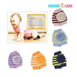 #6: KiddosCare Crawling Elbow Cushion Infants Toddlers Baby Knee Pads Protector (Assorted Color)
