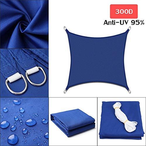 King do way vele parasole, vela da giardino tenda parasole esterno protezione solare ombreggiante da raggi uv in panno oxford impermeabile colore blu multi-size 160 gsm 2 x 3m