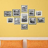 kinine Creative murales decorano il photo frame immagine sfondo camera da letto soggiorno bagno adesivo parete materiali ecocompatibili combinazione della fotografia in bianco e nero cornice immagine sticker murali di antiche automobili adesivo parete #015 - Ragazze Personalizzato Photo