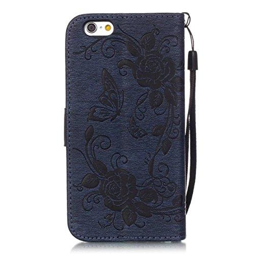 JIALUN-étui pour téléphone Avec Slot de carte, Lanyard, Pressure Beautiful Pattern Fashion Open Cell Phone Shell pour IPhone 6S Plus 5.5 pouces ( Color : Rose , Size : IPhone 6S Plus ) Deongaree