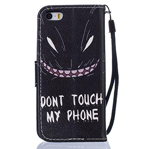 PU Silikon Schutzhülle Handyhülle Painted pc case cover hülle Handy-Fall-Haut Shell Abdeckungen für Smartphone Apple iPhone 5 5S SE +Staubstecker (8DB) 8