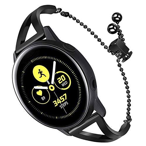 TRUMiRR Armband kompatibel Für Galaxy Watch Active/Galaxy Watch 42mm Frauen Armband, 20mm Schmuck Armreif Metall Edelstahl Armband Strass Diamant Uhrenarmband Ersatzband für Samsung Galaxy Watch 42mm
