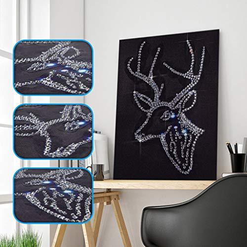 AIchenYW Accueil Mosaïque Peinture De Diamant Kits Complets 5D Bricolage Kits De Perceuses Pour Adulte Complets De Forage Portrait Strass Broderie Cross Peinture Pas Chers Noir Couleur Tableau