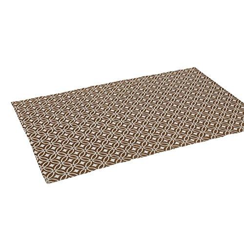 Alfombra de salón árabe marrón de algodón para comedor de 120 x 180 cm Arabia - Lola Derek