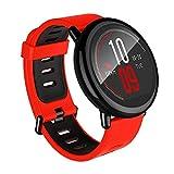 Amazfit Smartwatch Pace Multisport, orologi sportivi frequenza cardiaca per tutto il giorno e tracciamento delle attività, monitor di frequenzatouchscreen GPS Bluetooth impermeabile (rosso)
