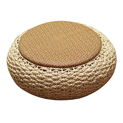 MYFGBB Rattan-Futon-Kissen, Dickes rundes erhöhtes Kissen, Bodenfenster im japanischen Stil, Tatami-Kissen, umweltfreundlich, Sitzgelegenheiten im Freien, Meditationsmatte,B - Haut-gasse
