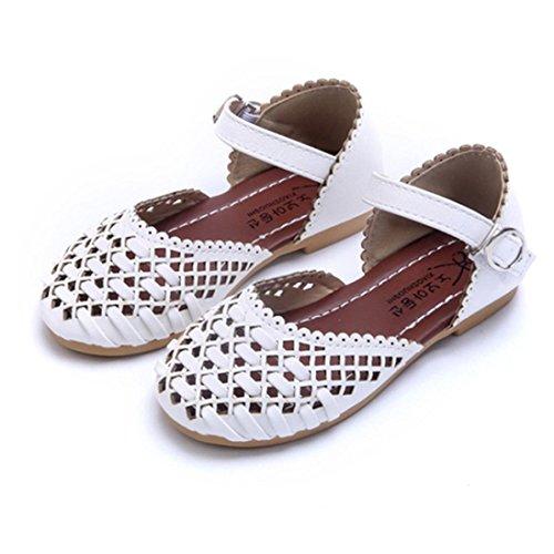 BZLine® Summer Girls Sandalen Kids Mädchen Sandalen Kinder Casual Flat shoes Weiß